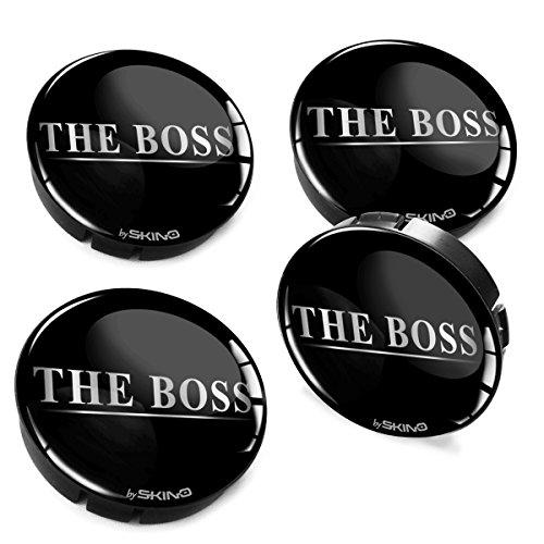 SkinoEu® 4 x 60mm Silikon Nabenkappen Kappen The Boss Silber Felgendeckel Radkappen Radnabendeckel Nabendeckel Auto Tuning C 67
