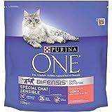 Purina One Spécial Chat Sensible - au Saumon et au Riz - 1,5 KG - Croquettes pour Chat Adulte - Lot de 6