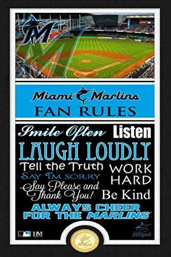 Miami Marlins Project Planner Lined Notebook Journal.