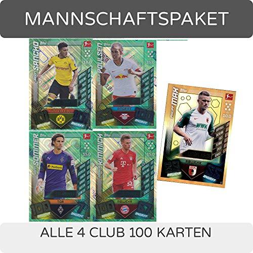Topps Match Attax - 2019/20 - Alle 4 Club 100 Karten + LE9 Philipp Max