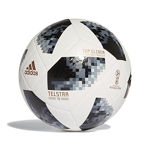 adidas Herren FIFA World Cup Top Glider Ball, White/Black/Silver Metallic, 5
