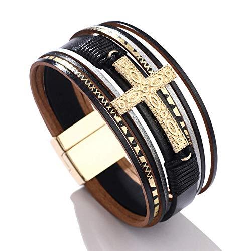Bosi General Merchandise joyería Cruzada, joyería de Damas, Pulsera de Hebilla magnética de Punto, Regalo Creativo, colección
