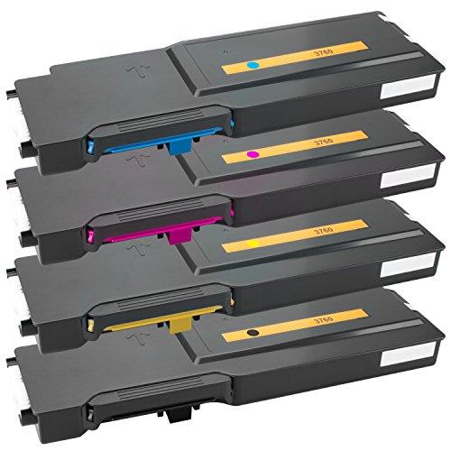 Tito-Express PlatinumSerie 4 Toner XXL kompatibel mit Dell C3760   geeignet für Dell C-3760N C-3760DN C-3765DNF   Black 11.000 Seiten