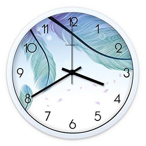 GFF Home Wanduhr Keine Uhr Anzahl Wohnzimmer Wanduhr Wohnzimmer Dekorative Innenuhr Schlafzimmeruhr Küchenuhr Stille Runde Quarzuhr Digitaluhr (Farbe: Schwarz-Weiß-Box, Größe: 30 cm)