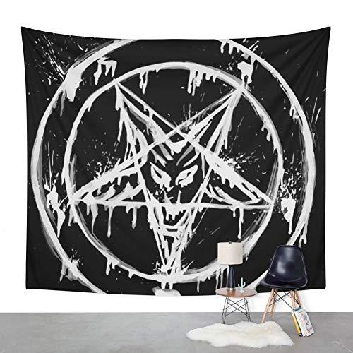 RTEAQ Wandteppich Stanic Pentagram Wandteppich Abdeckung Strandtuch werfen Decke Picknick Yoga Matte Home Decoration Textilien Tapisserie-59x79inch