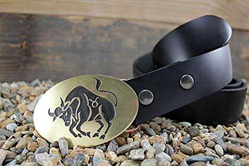 Taurus Belt Buckle ZODIAC Etched Metal