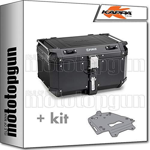 kappa maleta kfr580b k'force 58 lt + portaequipaje aluminio monokey compatible con...