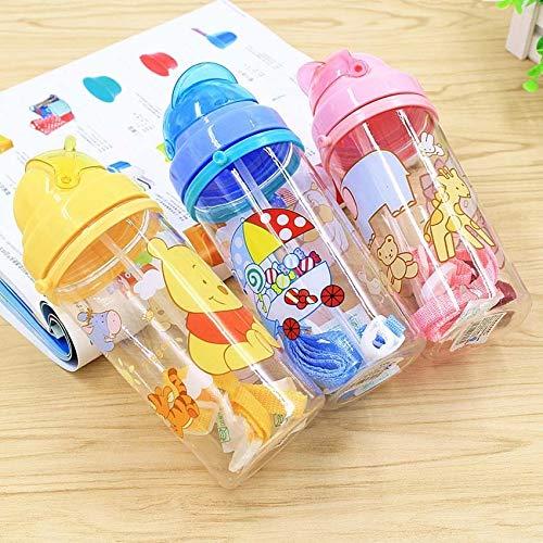 Taza de agua Botella Anna Elsa niños encantadores de la Copa Princesa Imprimir Vaso de dibujos animados envase (Color : 7)
