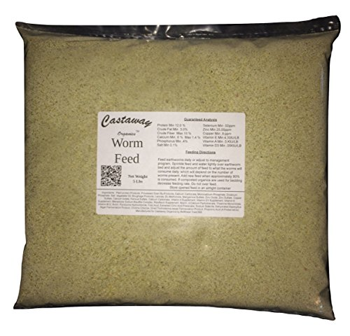 Buy Castaway Organics Worm Food for All Composting Worms and Bait Worms (5 lbs)