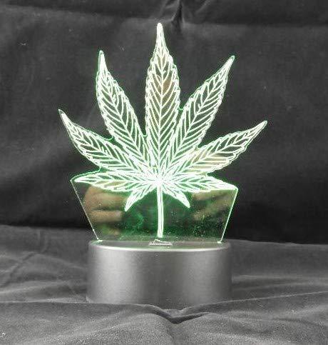 Dependable 3D Marijuana Leaf Weed LED Light 7 Color Changing Table Light Night Light