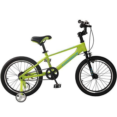 Axdwfd kinderfiets kinderfiets ultralicht magnesiumlegering frame voor jongens en meisjes paardrijden fiets maat 12 inch, 14 inch, 16 inch, 18 in met trainingsfiets