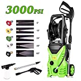 Homdox 1800W Electric Pressure Washer 3000 PSI 1.80 GPM Electric Power Washer with Hose Reel and 5 nozzles