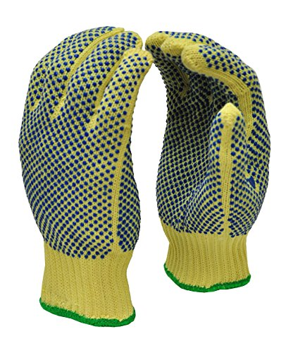 G & F Products 1670M Cut Resistant Work Gloves, 100% Kevlar Knit Work Gloves, Make by DuPont Kevlar, Protective Gloves to Secure Your Hands From Scrapes, Cuts In Kitchen, Wood Carving, Carpentry & DEA, Yellow, Medium
