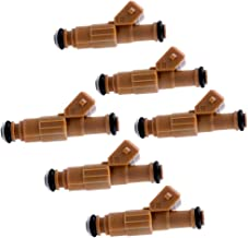 ROADFAR Fuel Injectors Parts, 4 Hole Engine Fuel Injector Kits Fit for 1989-1998 Jeep Cherokee 1987-1992 Jeep Comanche 1993-1998 Jeep Grand Cherokee 1991-1998 Jeep Wrangler 4.0L 0280155700,Set of 6