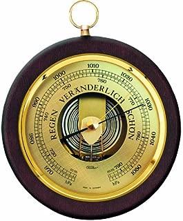 Walnut and Brass Fischer Barometer Pascal