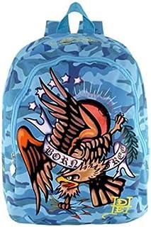 Mochila Ed Hardy by Christian Audigier Misha American Eagle Backpack in Blue Camo