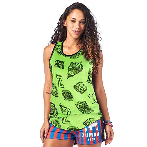 Zumba Camiseta de entrenamiento transpirable para mujer, talla M