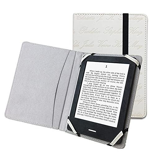 """EnjoyUnique Funda universal para lector de libros electrónicos de 6"""" para Kobo Kindle Sony Pocketook Tolino Ereader grabado con nombre del autor"""