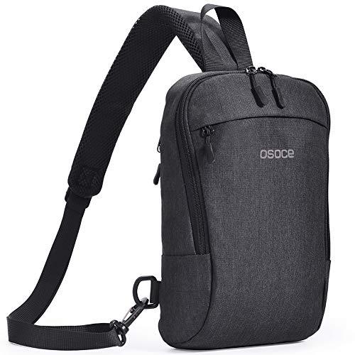 OSOCE Mochila bandolera para deportes de viaje (gris oscuro) (B19-gris oscuro)