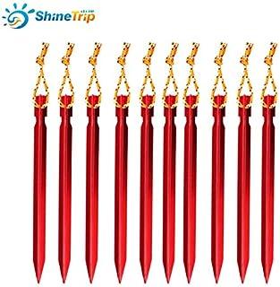 Juegos de imitación Color al Azar CUSHY 10pcs del Viento RopeOutdoor aleación de Aluminio Wind Tent tapón TentAdjust tentorial Tienda India