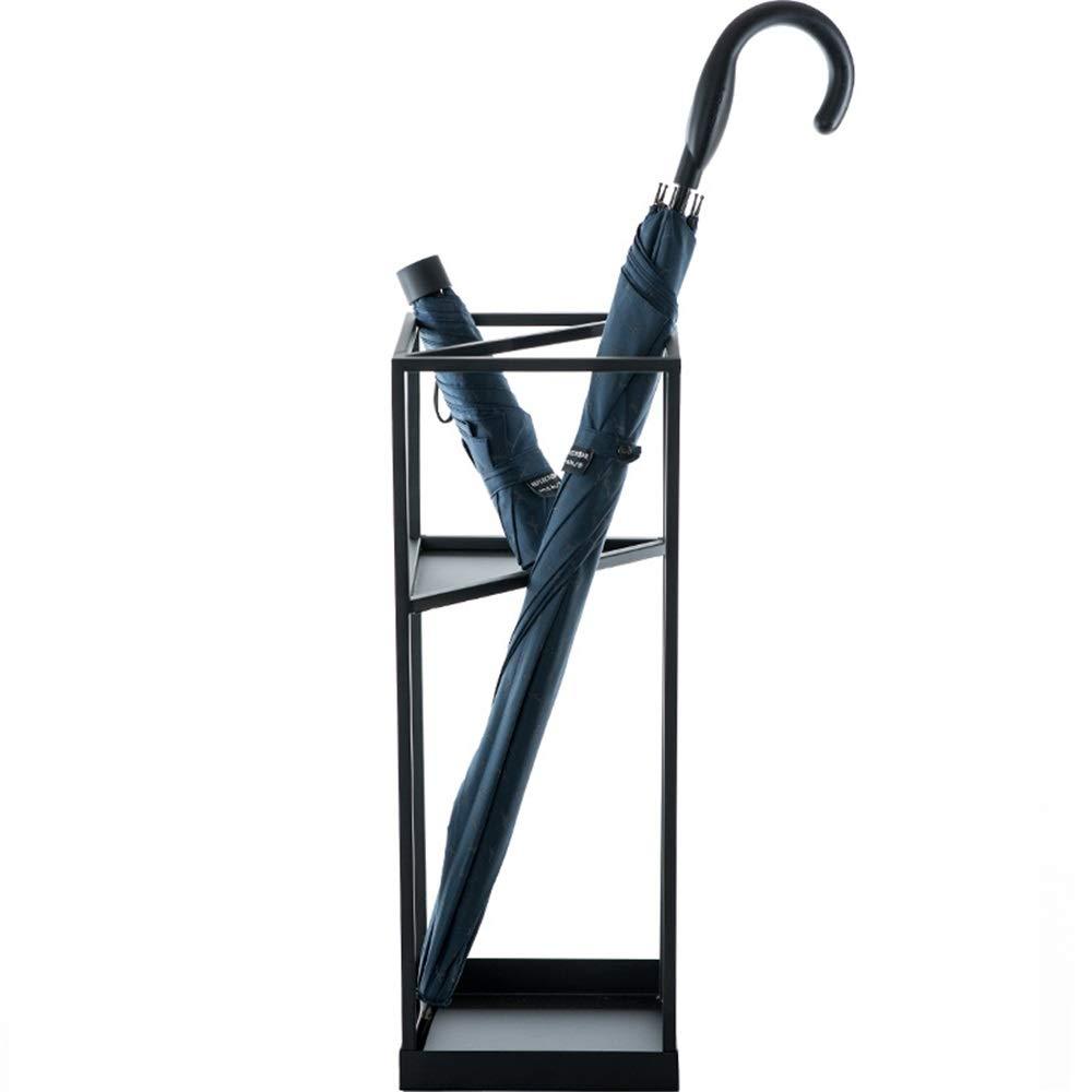 傘立て 現代のミニマリストアイアンホテルロビークリエイティブホームポーチアンブレラスタンド 省スペース (Color : Black, Size : One size)