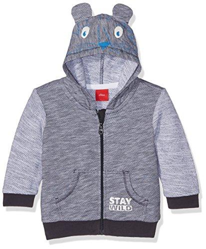 s.Oliver s.Oliver Baby-Jungen Jacke Sweatshirt, Blau (Dark Blue Melange 58W4), 62