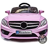 ATAA CARS SL Roaster 12v Voiture électrique pour Enfants avec télécommande pour Parents - Rose