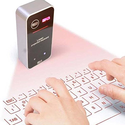 Lukuki Mini Virtual Laser Keyboard Bluetooth Smartphone Projection QWERTY Laptop Keys