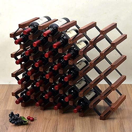 FGDFGDG Muebles De Barras Y Estante De Vino Botella De Madera Independiente Titular Y Almacenamiento Gabinete De Bodega Y Despensa En Un Estante De Vinos con Clase,B