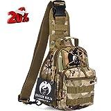 Dragon Ninja Tactical Sling Bag (Green Camouflage)