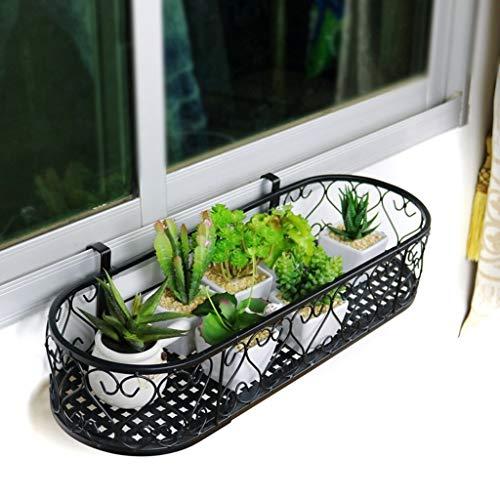 CFTGB Plantenrek, bloemenrek, balkon, vensterbank, bloemenrek, wandplantenrek, ijzeren ovaal, bloempothouder, voor binnen en buiten, tuin, woonkamer, balkon, slaapkamer, cadeau