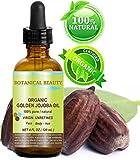 Botanical Beauty Organic Golden Jojoba Oil 100% Pure. For Face, Hair And Body. 4 Fl.oz - 120 ml.
