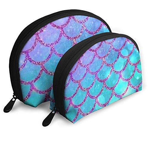 NR poisson échelle femmes voyage sacs de cosmétique tissu imperméablePetit maquillage pochette d'embrayage cosmétique et de toilette organisateur sac portable voyage pochette de toilette