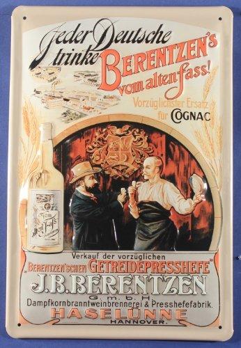 Blechschild Berentzen Korn Cognac Ersatz Schild Nostalgie Werbeschild