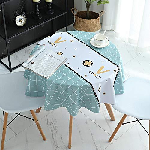 Kuingbhn Wachstuch Tischwäsche Tischdecke mit Fleckschutz Verbrühungsschutz Weich und Dick Rechteckige Quadratisch...
