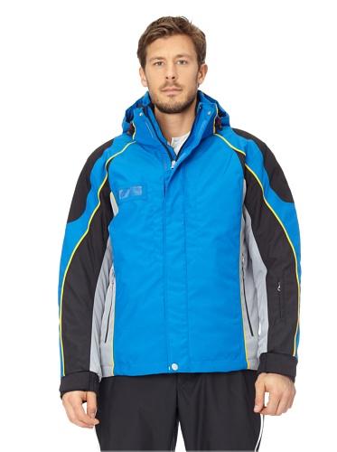 VIST Skijacke Herren Jacke TW PEGA Jacket blau schwarz Ski Royal Black u. Kapuze (S)
