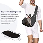 SlowTon Pet Sling Carrier, Dog Papoose Hand Free Puppy Carry Bag with Bottom Supported Adjustable Padded Shoulder Strap and Front Zipper Pocket Safety Belt for Small Pet Daily Use (Waterproof Black) 12