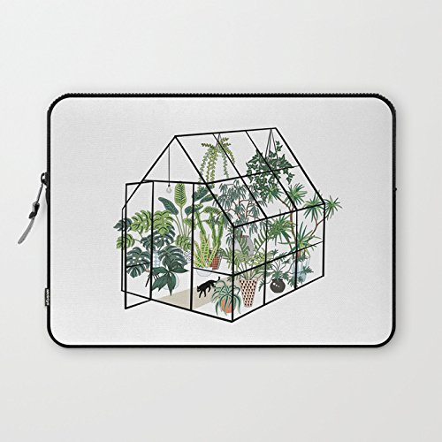 Greenhouse with Plants Laptop Sleeve Modern Laptop Protective Case Sleeve Notebook Laptop Bag Reinforced Bottom for MacBook Air 13.3 Christmas Birthday Back to School Gifts Idea