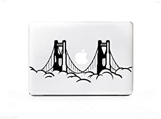 Cloud Golden Gate Bridge Sticker Decal For MacBook Pro, PC, Laptop, Window, Car, or Wall