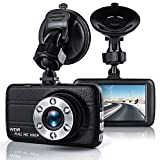 Dash Cam, EZone Car Dashboard Camera 3.0' Full HD 1080P DVR Dash Camera 170 Degree Wide Angle On-Dash Camcorder with Night Vision Display