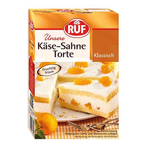 RUF Käse Sahne Torte mit einer Quark Sahne Creme und Früchten, 8er Pack (8 x 350 g)