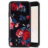 QPOLLY - Carcasa de silicona para Samsung Galaxy A3 2017, color negro mate rosa Rosa Samsung Galaxy A5 2017