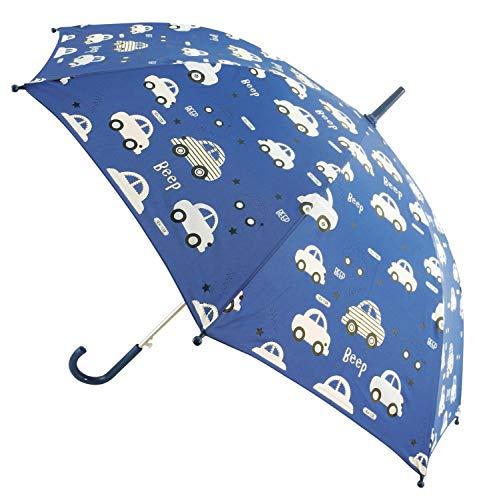 Bieco Regenschirm Kinder Ø ca. 86 cm | Farbwechsel Kinder Regenschirme im Auto Design | Geeignet für Kinder 2 Jahre und Älter | Kleinkind Spielzeug | Regenschirm Taschenschirm | Kinder Sonnenschirm
