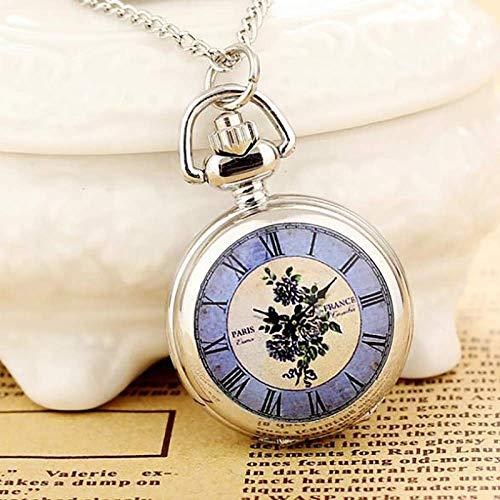 DFBGL Pocket Watch Steampunk Necklace Women Pocket Watch Pendant Quartz Pocket Watch Fashion Print steampunk buy now online