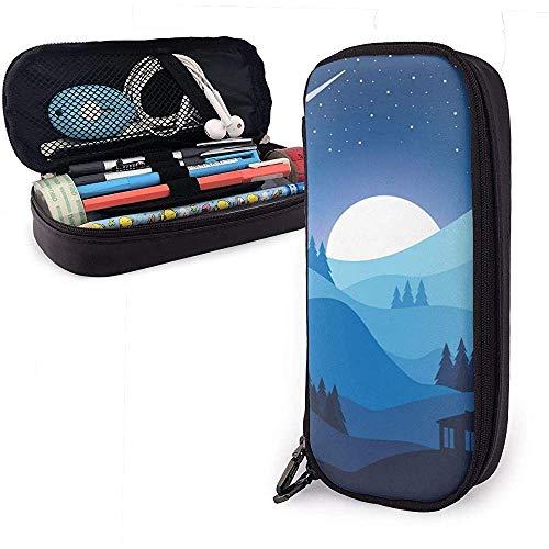 Light Moon Star Bolsas de almacenamiento de cuero de la PU Bolsas de...