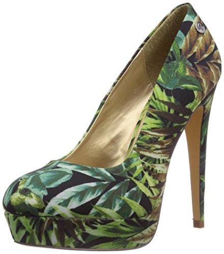 Blink BL 548, Chaussures à Talons avec Plateau Femme - Vert - Grün (Multi green69), 41 EU