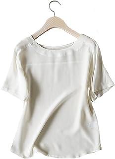 UAISI2018新款女夏季100%桑蚕丝衬衫上装名媛淑女秋季真丝薄款休闲套头衫