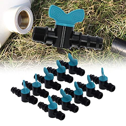 GUSTAR Regulador de válvula, Grifo de jardín de plástico, tubería de Agua de 20 mm de diámetro para Plantas Individuales para invernaderos