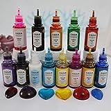 13 colores de resina epoxi líquida, resina epoxy, pigmentos de color para resina epoxi, fabricación de joyas, también se puede utilizar como set de colores de jabón.