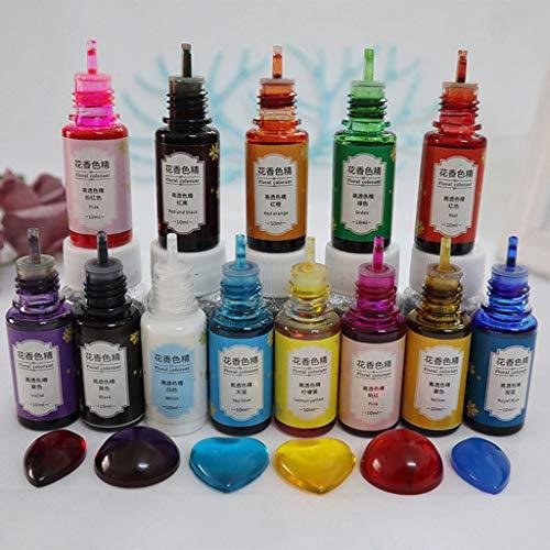 13 Farben Epoxidharz Farbe Flüssig, Resin Farbe, Epoxy Farbe, Farbpigmente Für Epoxidharz, DIY Schmuckherstellung Basteln, Auch Als Seifenfarbe Set Verwendbar